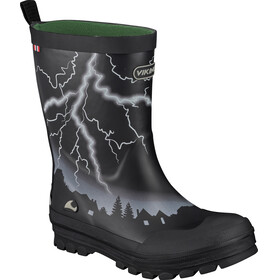 Viking Footwear Lyn Rubber Boots Kids black/green